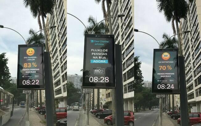 Relógios de rua vão mostrar movimentação nos bairros do Rio de Janeiro