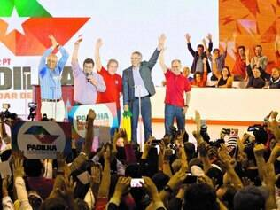Sem Dilma, Reunida em São Paulo para lançar Alexandre Padilha, cúpula petista reagiu a xingamentos contra a presidente da República