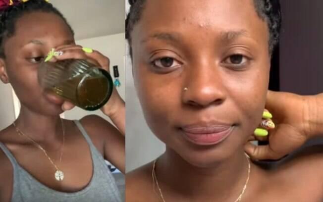 Ruby Karyo tem 30 anos e, desde os 19, bebe e passa xixi no rosto; ela afirma que a prática deixa a sua pele mais bonita