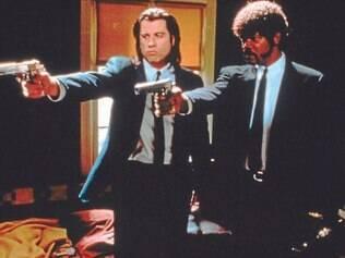 Icônicos.Travolta e Samuel L. Jackson foram indicados ao Oscar como Vince e Jules