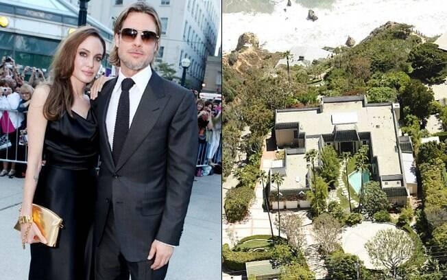 Vista aérea da mansão de Angelina Jolie e Brad Pitt que está à venda
