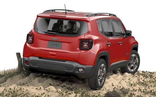 Jeep Renegade básico vem com motor 1.8 flex que funciona em conjunto com o câmbio automático de seis marchas