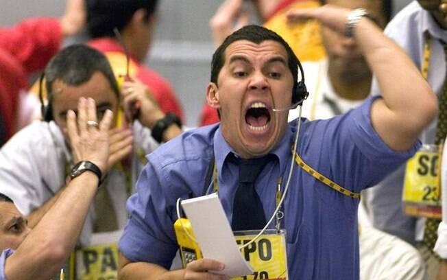 Pregão na Bolsa de Valores tem muita tensão entre os corretores