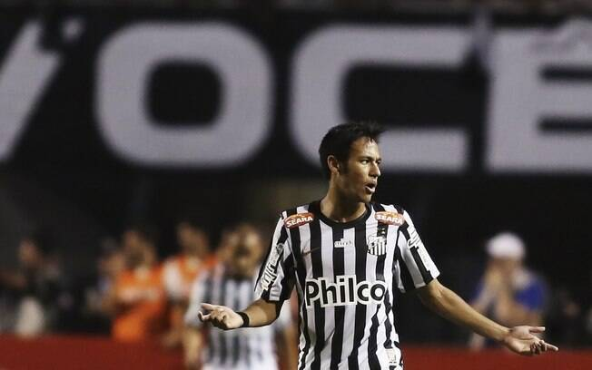 Neymar no primeiro jogo da final do  Paulistão, contra o Corinthians