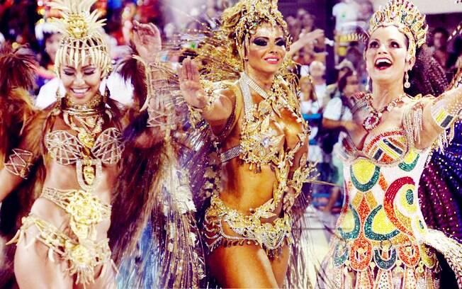 As musas do Rio de Janeiro mostraram excelente forma física no sambódromo da Sapucaí
