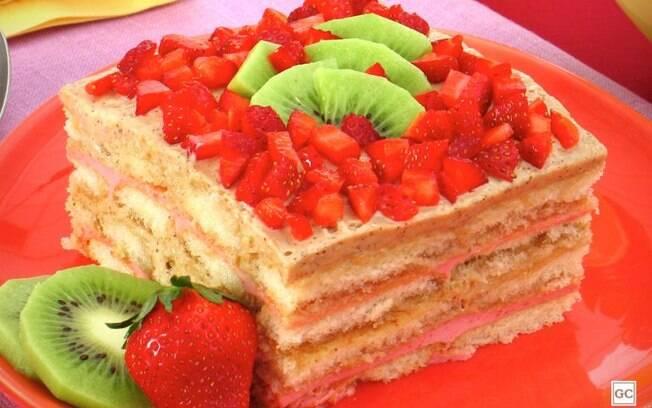 Pavê de morango e kiwi: sobremesa refrescante e deliciosa