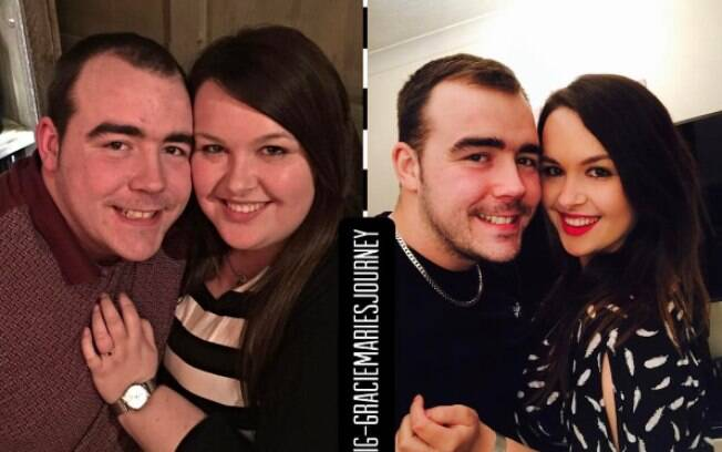 Antes e depois de Grace e Nathan