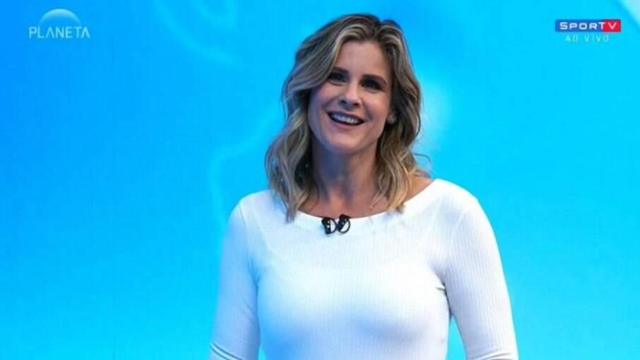 Janaína Xavier, apresentadora do SporTV News