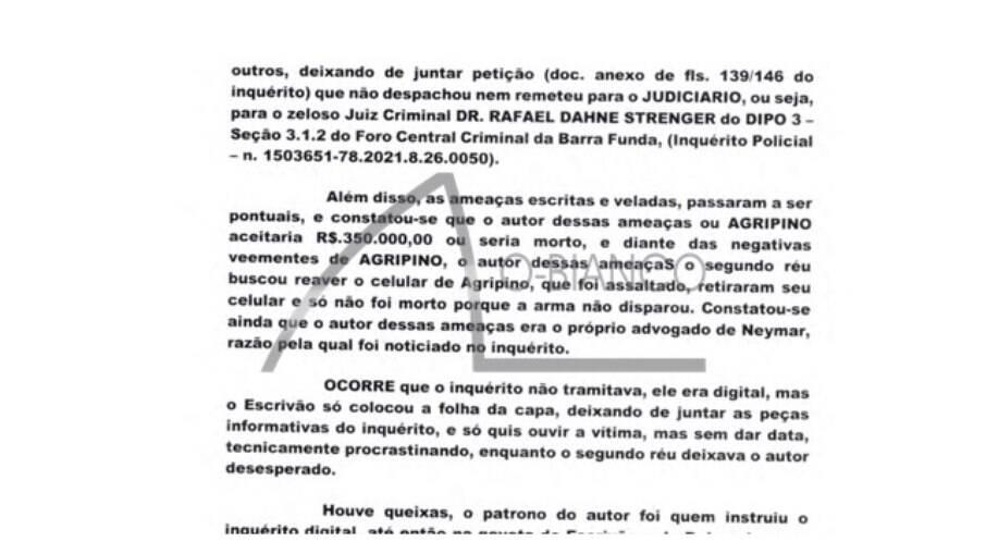 Ativista diz que recebe ameaças de morte do advogado de Neymar