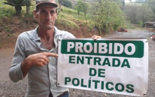 Adair Jorge Dill agricultor manifestante