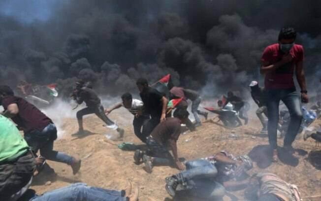 'As portas do inferno': confrontos na Faixa de Gaza deixaram dezenas de mortos e mais de mil feridos nesta segunda-feira