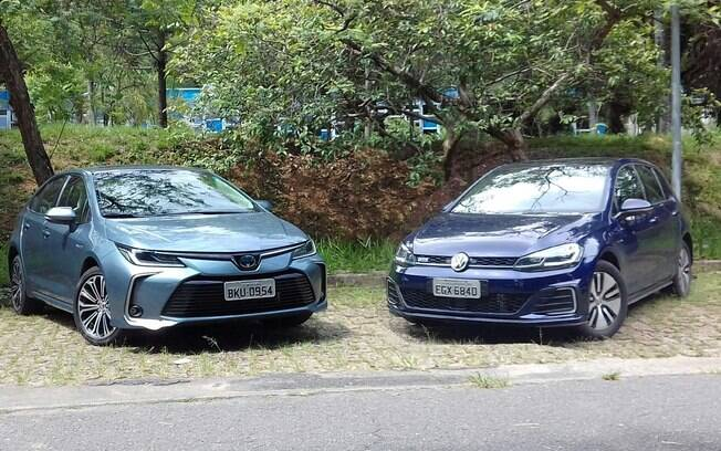 Toyota Corolla e VW Golf