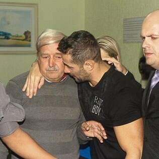Marcos Oliver com o pai