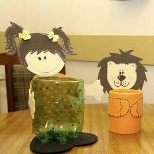 Lembrancinhas com material reciclável dão toque sustentável à festa infantil