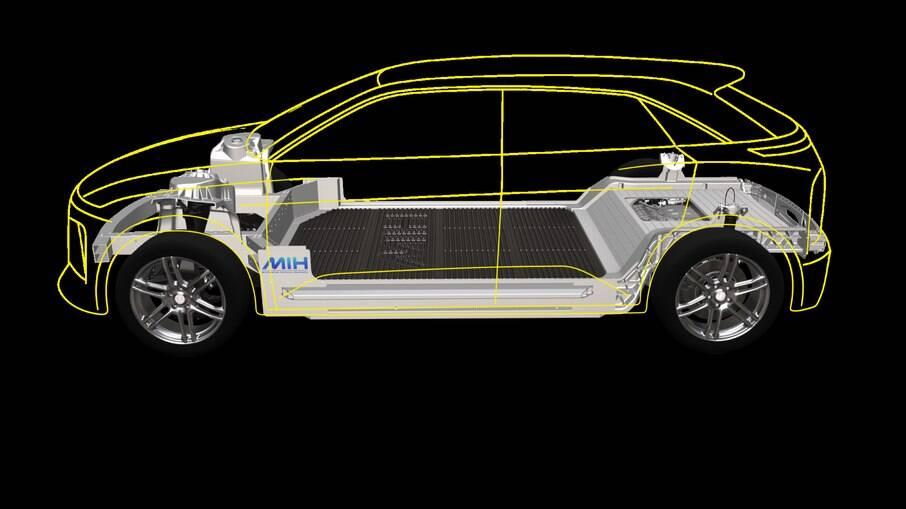 Plataforma modular da Foxconn poderá servir de base para carros de várias marcas e tipos de carroceria