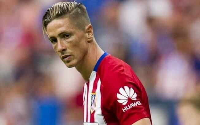 Fernando Torres, com a camisa do Atlético de Madrid