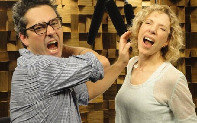 Brincadeira de bastidores entre Marília Gabriela e Alexandre Nero: ele encarna o Baltazar e parte para cima dela