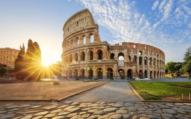 Roma, na Itália, vazia
