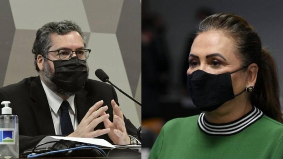 Kátia Abreu critica Ernesto Araújo na CPI da Covid-19