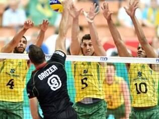 Brasil derrotou equipe alemã por três sets diretos