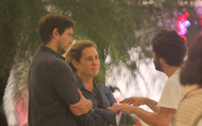 Caio Castro, Vladimir Brichta e Adriana Esteves
