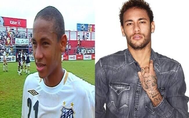 Esquerda: Neymar durante a