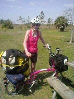 Ethel depois de completar uma viagem pela Flórida em 2013