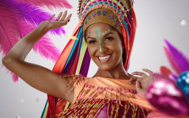 Erika Moura na vinheta do Carnaval Globeleza