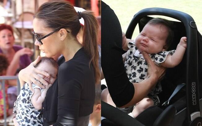 Victoria Beckham passeou com a sua filha caçula pelo shopping