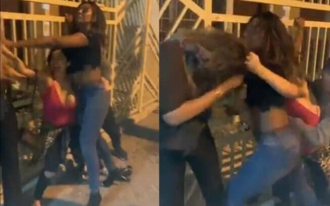 Camila Silva brigou na rua e precisou ser contida