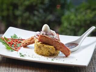 Com o tema Sabores do Brasil no Restaurante Week, chefs de casas especializadas como o peruano Inka tiveram que criar pratos com as duas culturas, caso do Peruano de Minas (base de taco taco feita com carne de sol, linguiça e ovo de codorna)