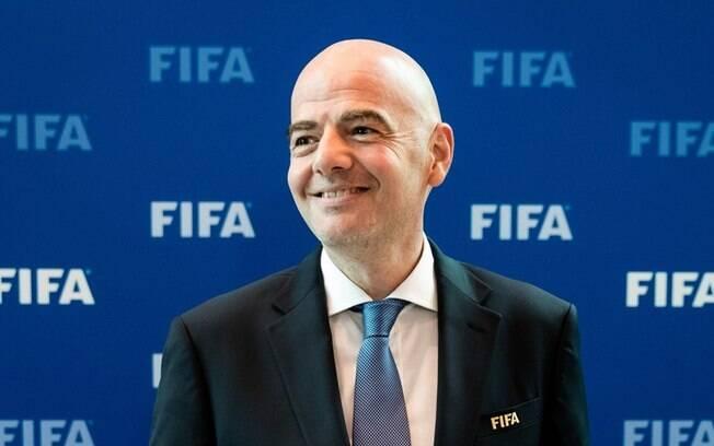 Gianni Infantino, presidente da Fifa, chegou para mudar formato da Copa do Mundo