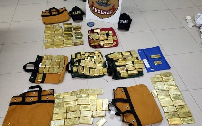 Avaliada em R$ 18 milhões, carga de ouro foi apreendida junto com avião