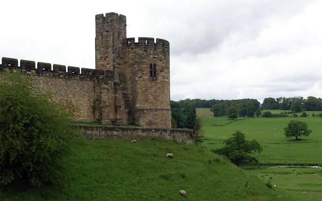 O Castelo de Alnwick foi cenário dos primeiros filmes de Harry Potter