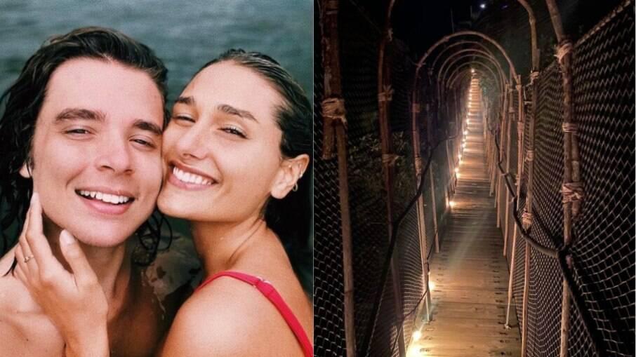 O casal passou uma temporada em Angra e agora aproveita Tulum