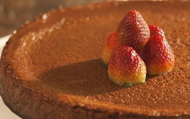 Versão de chocolate da tradicional torta americana, o cheesecake