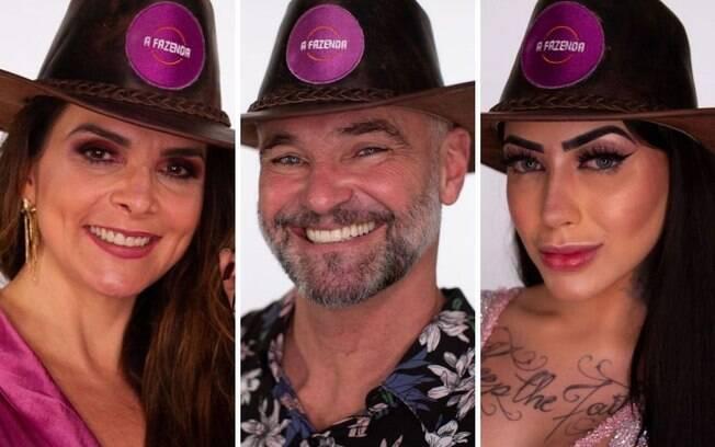 A Fazenda: Luiza Ambiel, Matheus Carrieri e MC Mirella