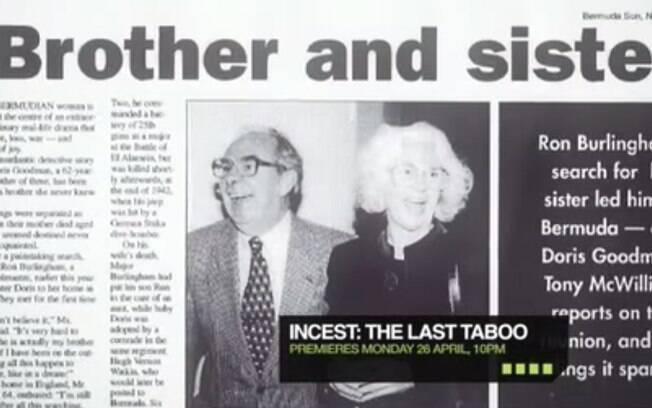 Matéria de jornal mostra relação incestuosa entre irmãos na Europa. Foto: Reprodução/Youtube