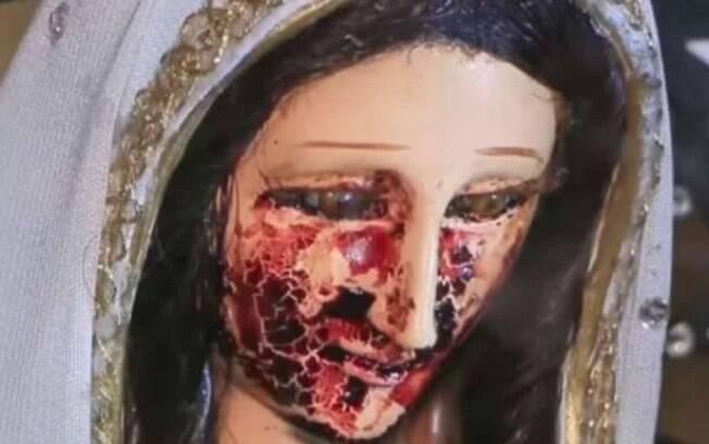 Também no México, outra estátua de santa já foi flagrada