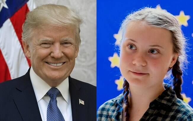 O presidente dos Estados Unidos e a ativista sueca