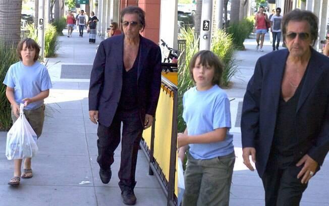 Al Pacino e o filho Anton em Beverly Hills