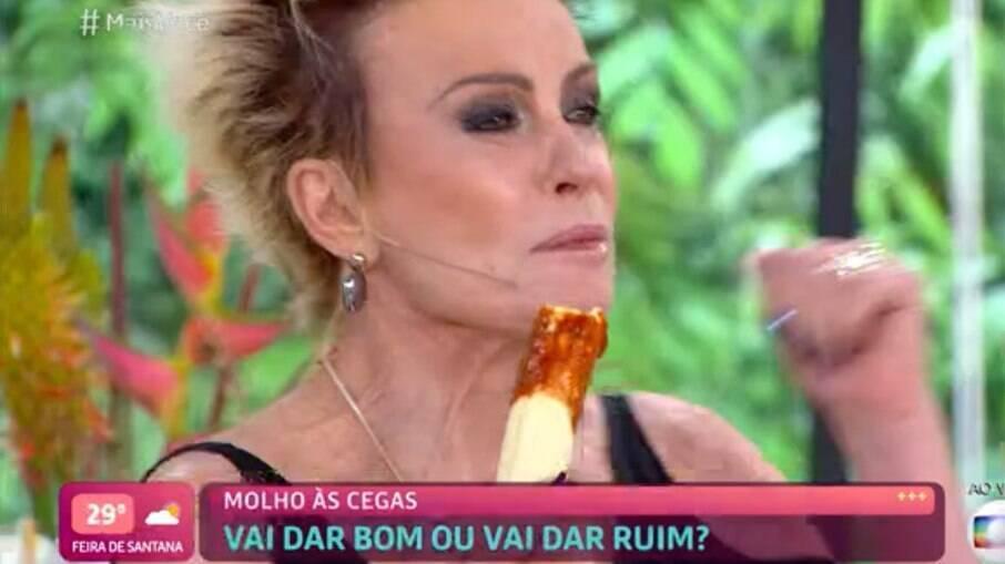 Ana Maria come pimenta ao vivo e passa mal