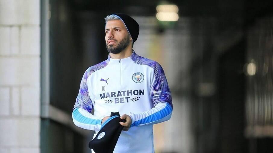 Agüero, jogador do Manchester City
