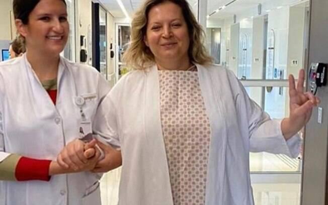 Joice fez cirurgia no hospital Vila Nova Star, em São Paulo
