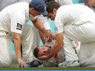 Atleta foi atingido no rosto, durante a partida desta terça-feira, na Austrália