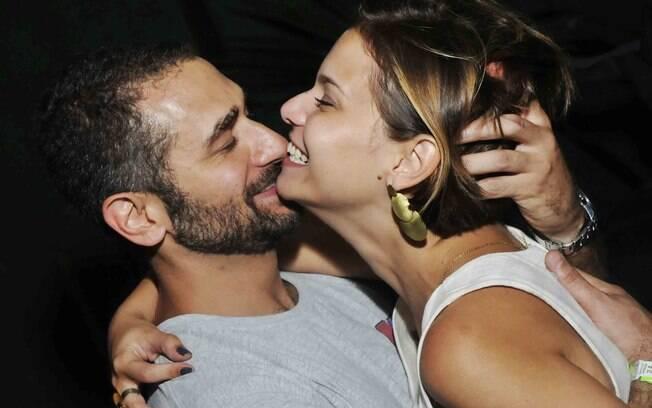 Milena Toscano com o namorado Elias Abifadel