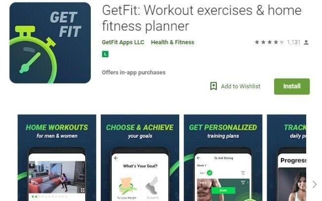 Aplicativos fitness: com o GetFit você não terá mais a desculpa que não dá para fazer exercícios, pois pode fazer em casa