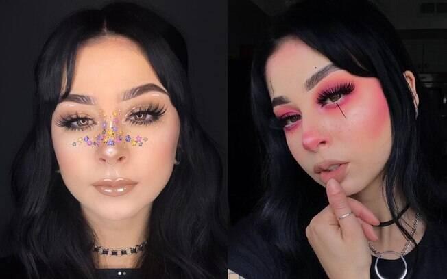 Ashlee Summer é uma das artistas conhecidas nas redes sociais por aplicar desenhos e blush para criar arte no nariz