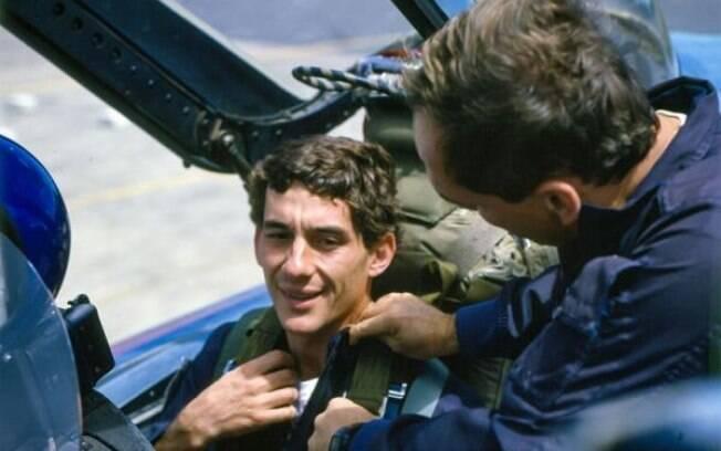 Ayrton Senna voou como passageiro em caça da Força Aérea Brasileira em 1989