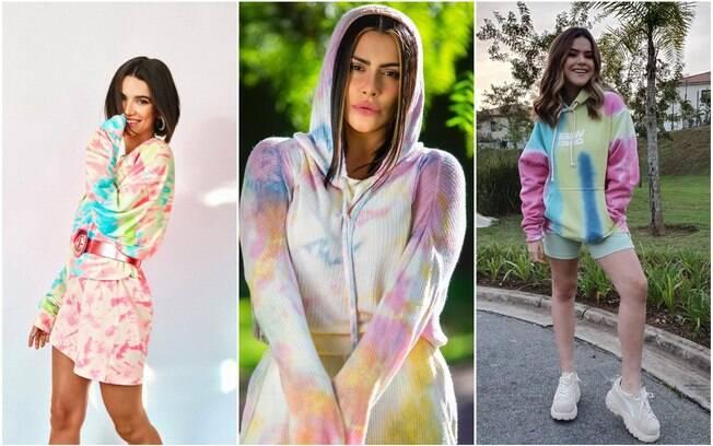 pessoas com roupa tie-dye